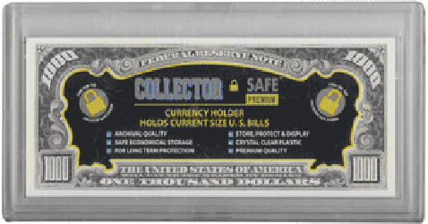 Collector Safe Large Snap Lock Currency Holder Large Collector Safe Large Snap Lock Currency Holder, Collector Safe, 00620