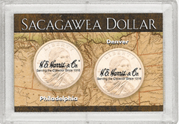 Map Sacagawea P&D HE Harris Frosty Case 2x3 Map Sacagawea P&D HE Harris Frosty Case, HE Harris & Co, 2812