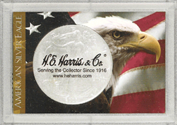 HE Harris Flag and Eagle ASE Frosty Case 2x3 HE Harris Flag and Eagle ASE Frosty Case, HE Harris & Co, 1679