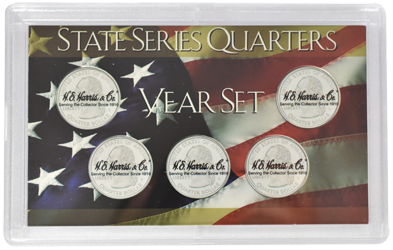 State Quarters 6 Coin 3x5 HE Harris Frosty Case