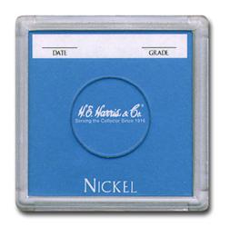 Nickel 2x2 Snaplock Coin Holder HE Harris Bulk Box 2x2