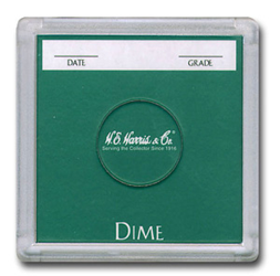 Dime 2x2 Snaplock Coin Holder HE Harris Bulk Box 2x2 Dime 2x2 Snaplock Coin Holder HE Harris Bulk Box, HE Harris & Co, 90921149