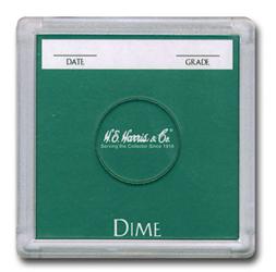 Dime 2x2 Snaplock Coin Holder HE Harris Bulk Box 2x2