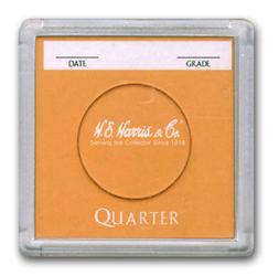 Quarter 2x2 Snaplock Coin Holder HE Harris Bulk Box 2x2