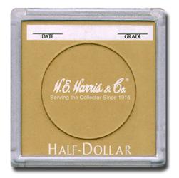 Half Dollar 2x2 Snaplock Coin Holder HE Harris Bulk Box 2x2