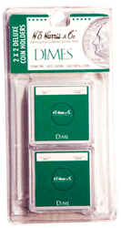 Dime 2x2 Snaplock Coin Holder HE Harris Retail Pack 2x2