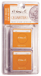 Quarter 2x2 Snaplock Coin Holder HE Harris Retail Pack 2x2
