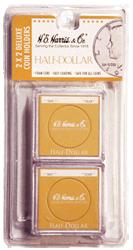 Half Dollar 2x2 Snaplock Coin Holder HE Harris Retail Pack 2x2