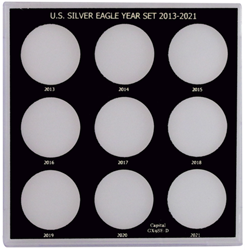 Capital Plastics US Silver Eagle Year Set 2013-2021
