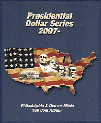 Presidential Dollar Supersafe Coin Album Series P&D