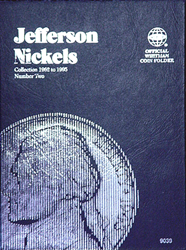 Jefferson Nickels Coin Folder 1962 - 1995