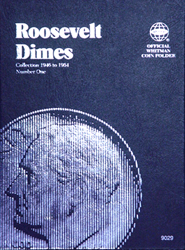 Roosevelt Dimes Coin Folder 1946 - 1964