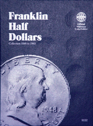 Whitman Franklin Half Dollar Coin Folder 1948 - 1963