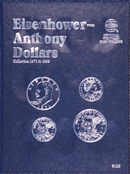 Whitman Eisenhower / Anthony Dollar Coin Folder 6x7.75 Whitman Eisenhower / Anthony Dollar Coin Folder, Whitman, 9023