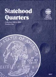 Whitman Statehood Quarters Coin Folder 1999 - 2001