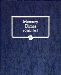 Mercury Dimes Whitman Coin Album Mercury Dimes, Whitman Coin Album, 9118