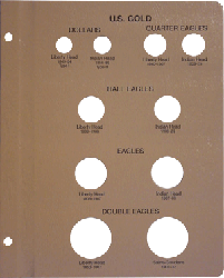 Dansco US Gold Type Page for 7070 Coin Album