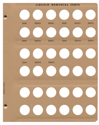 Lincoln Memorial Cents w/ Proofs Dansco Coin Album Replacement Page 5