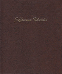 Jefferson Nickels Dansco Coin Album Cover