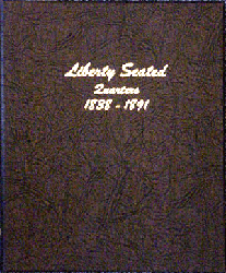 Liberty Seated Quarters - Dansco Coin Album 6142