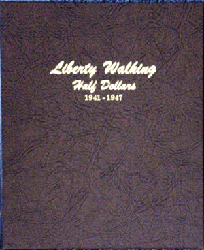 Liberty Walking Half Dollar 1941 to 1947 - Dansco Coin Album 7161 Liberty Walking Half Dollar Dansco Coin Album Vol. 2 , Dansco, 7161