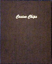 40mm Casino Chip plain 5 pages, 45 ports - Dansco Chip Album 7007