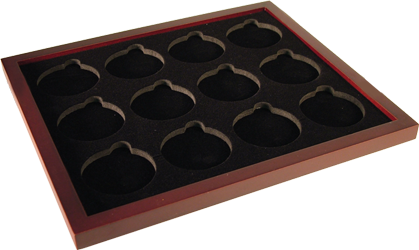 Guardhouse Wood Coin Tray for Air-Tite Coin Capsules Size I