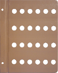 Dansco 16mm Blank Coin Album Page 16mm Blank Dansco Coin Album Page, Dansco,