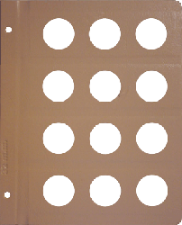 Dansco 32mm Blank Coin Album Page 32mm Blank Dansco Coin Album Page, Dansco,