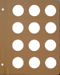 Dansco 34mm Blank Coin Album Page 34mm Blank Dansco Coin Album Page, Dansco,