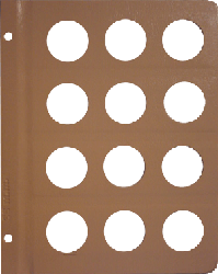 Dansco 35mm Blank Coin Album Page 35mm Blank Dansco Coin Album Page, Dansco,