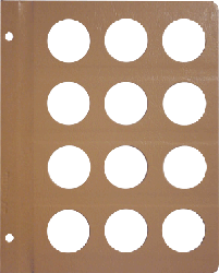 Dansco 37mm Blank Coin Album Page 37mm Blank Dansco Coin Album Page, Dansco,