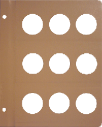 Dansco 38mm Blank Coin Album Page 38mm Blank Dansco Coin Album Page, Dansco,