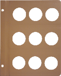 Dansco 40mm Blank Coin Album Page 40mm Blank Dansco Coin Album Page, Dansco,