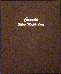 Canada Silver Maple Leaf - Dansco Coin Album 7215 Canada Silver Maple Leaf Dansco Coin Album , Dansco, 7215