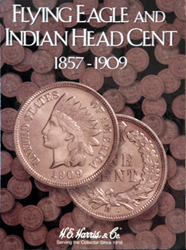 Flying Eagle and Indian Cent HE Harris Coin Folder 6x7.75 Flying Eagle and Indian Cent HE Harris Coin Folder, HE Harris & Co, 2671