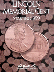 Lincoln Memorial Cents 1999-2008 HE Harris Coin Folder 6x7.75 Lincoln Memorial Cents 1999-2008 HE Harris Coin Folder, HE Harris & Co, 2705