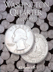 Washington Quarters 1988-1998 HE Harris Coin Folder 6x7.75 Washington Quarters 1988-1998 HE Harris Coin Folder, HE Harris & Co, 2691