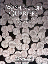 State Quarter 1999-2003 HE Harris Coin Folder 6x7.75 State Quarter 1999-2003 HE Harris Coin Folder, HE Harris & Co, 2580