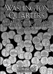 State Quarter 2009 HE Harris Coin Folder 6x7.75