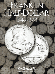 Franklin Half Dollar HE Harris Coin Folder 6x7.75 Franklin Half Dollar HE Harris Coin Folder, HE Harris & Co, 2695