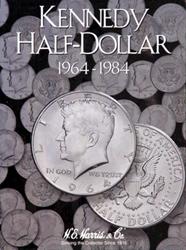 Kennedy Half Dollar 1964-1984 HE Harris Coin Folder 6x7.75 Kennedy Half Dollar 1964-1984 HE Harris Coin Folder, HE Harris & Co, 2696
