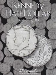 Kennedy Half Dollar 1985-1999 HE Harris Coin Folder