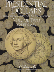 Presidential Dollar Vol. 2 P&D HE Harris Coin Folder Cover