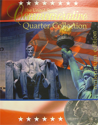 "US Commemorative Quarter Map 13""x16 1/2""x5/16"" US Commemorative Quarter Map, New Quarter Co, Millennium"