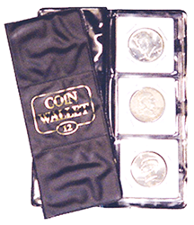 12 Pocket Coin Wallet for Staple Type 2 x 2 Coin Flips