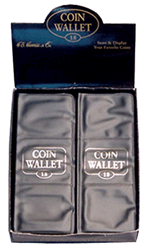 18 Pocket Coin Wallet for 2 x 2 Staple Type Coin Flips