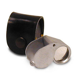 10X Matte Silver Triplet Magnifier HE Harris 1029C 10x