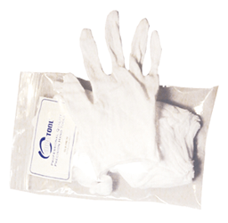 White Cotton Glove - Large cotton gloves, coin handling, coin supply express