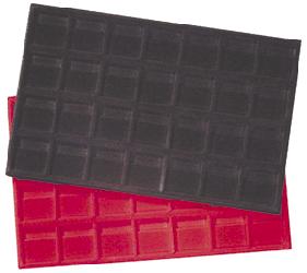 2x2 Flip Horizontal Display Tray Red Tray - Horizontal 2x2 Flip Horizontal Display Tray Red, Guardhouse,